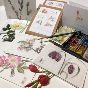 6 x Flower Notecards  PACK 1