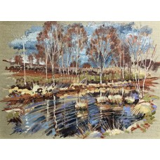 Pond and Silver Birch at Brimham WAS £395  NOW £225
