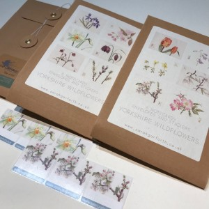 6 x Flower Notecards PACK 2