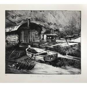 Boats and Huts at Port Mulgrave